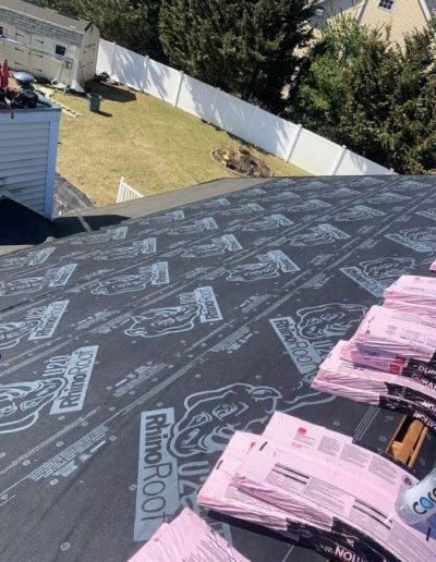 Residential roof installation in Seabrook NH by Seacoast Roofing & Exteriors