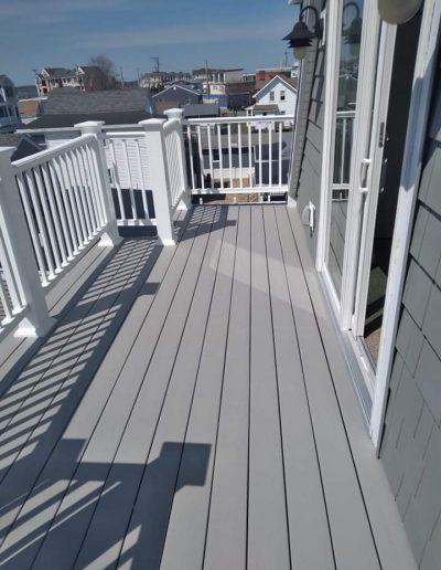 Duralife Coastal Grey Deck Install in Hampton Beach