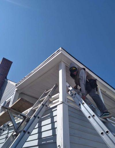 EPDM Rubber Roof Intstall in Hampton Beach